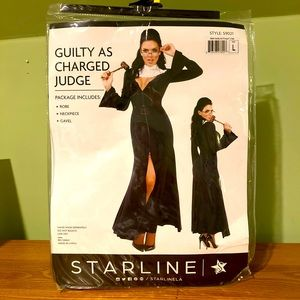 Sexy Starline Judge Costume NWT Size Large